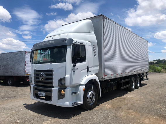 Vw 24280 6x2 Constellation Ano 2014 Bau Furgao 9,00mts
