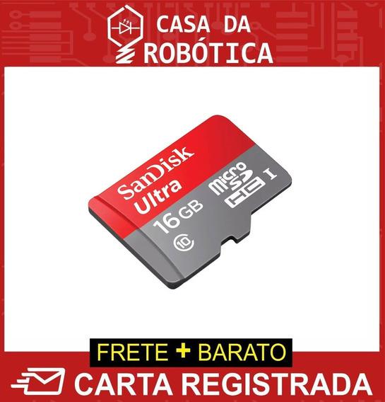Cartão Micro Sd Para Raspberry Sandisk Ultra 16gb Classe 10