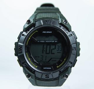 Reloj Hombre Digital Prospace 047 Sumergible Deporte Cronometro Alarma Luz Garantia 1 Año