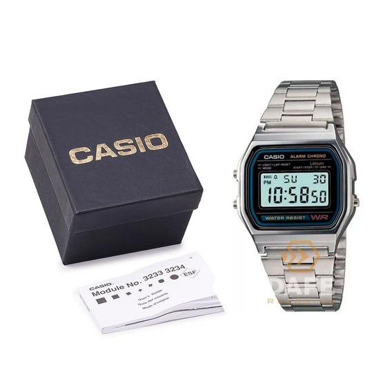 Relógio Casio A158wa Unissex Original Retrô C Caixa E Nf