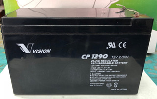 This is an AJC Brand Replacement PowerWare PW9125 2000 20R 12V 9Ah UPS Battery
