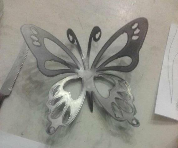 10 Mariposas De Hierro - Centro De Mesa Souvenir Oxido