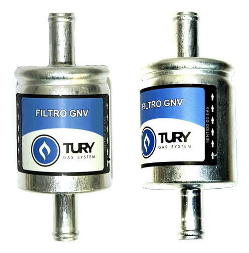 Imagem 1 de 6 de 2 Filtros Tury Gas 5ª 6ª Geração Gnv Valtek Stag Emer Oferta