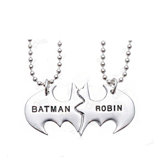 Colar Batman E Robin Melhores Amigos Amizade Duplo