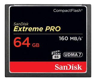 Memoria Compact Flash Sandisk Sdcfxps 64gb Vpg-65 Extreme P