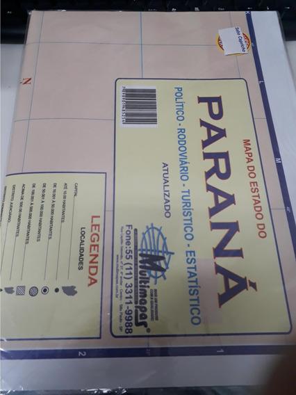 Mapa Do Estado Do Paraná Editora Multimapas