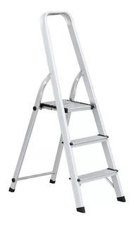 Escalera Aluminio Hogar 3 Escalones 62 Cm Zona Norte