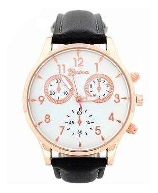 Circulos Negro Oro | Reloj Elegante Para Caballero