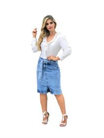 Roupas Femininas Sais Jeans Com Elastano Sinto Laço 072