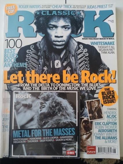 Revista Classic Rock Com Cd Metal For Masses Agosto 2006