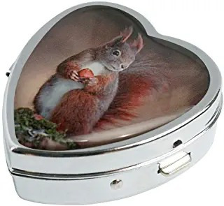 Cowgogo Red Squirrel Custom Design Fashion Silver Heart Shap