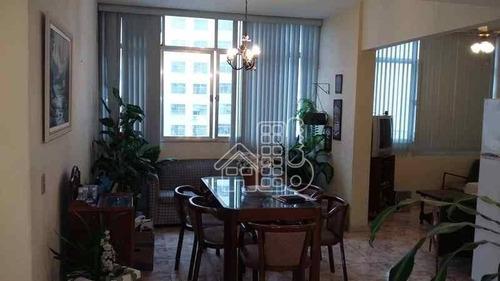 Apartamento Com 3 Dormitórios À Venda, 165 M² Por R$ 750.000,00 - Icaraí - Niterói/rj - Ap0123