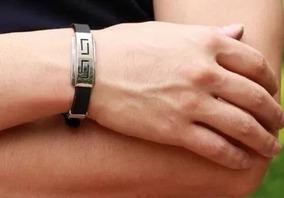 Pulseira Masculina Bracelete Aço Inoxidável Ajustável