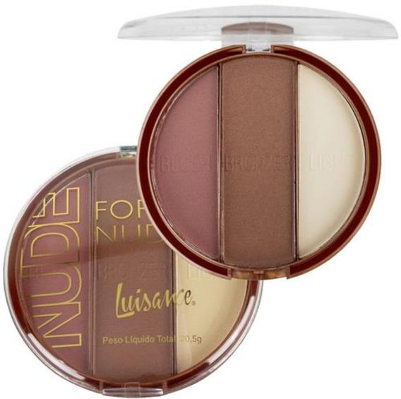 Paleta Forever Nude - Iluminador, Bronzeador E Blush (rr)