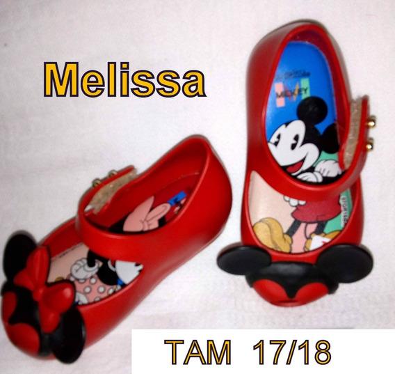 Lote 3 Calçados Tam 17 - Mini Melissa E Flavia Mendes