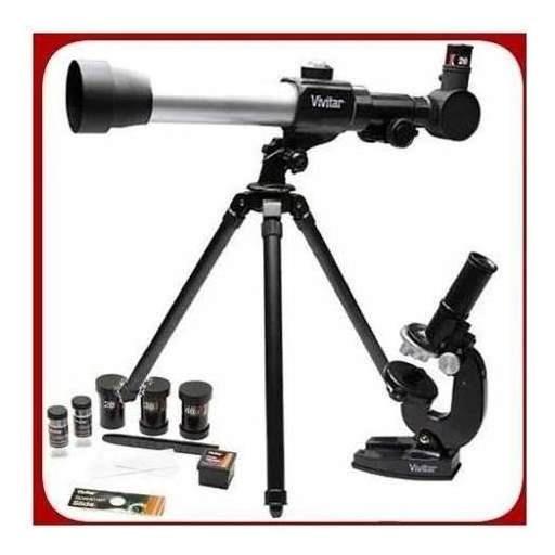 Kit Telescópio Microscópio + Acessórios Vivtelmic20 Vivitar