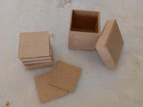 Kit Caixa 6x6 Com Plaquinhas 5x5 Joguinho Jogo Em Mdf Cru