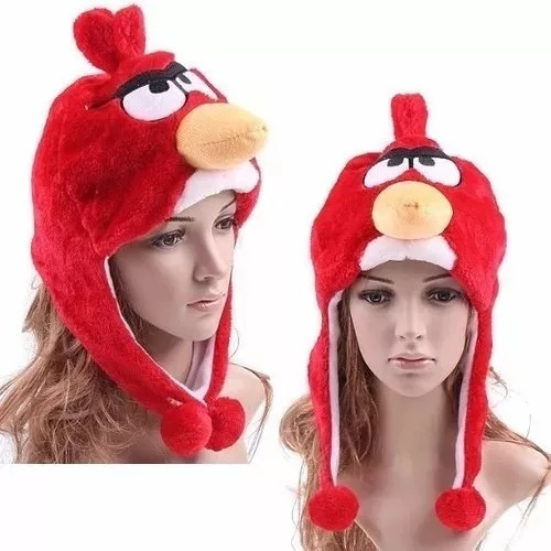 Touca Gorro De Bichinho Animal Zoo Frio Fantasia Angri Bird