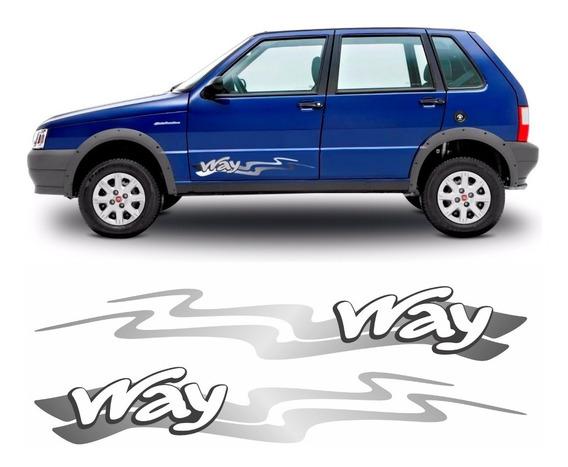 Adesivo Faixa Lateral Fiat Uno Way 2013 Unway