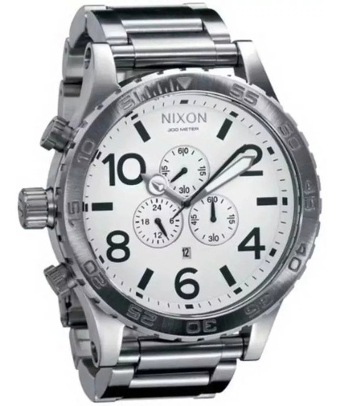 Relógio Txt87656 Nixon A083-100 Prata Original Novo Lacrado