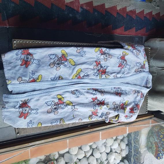 Bonita Bata De Toalla Disney Mickey Kids 100% Algodon