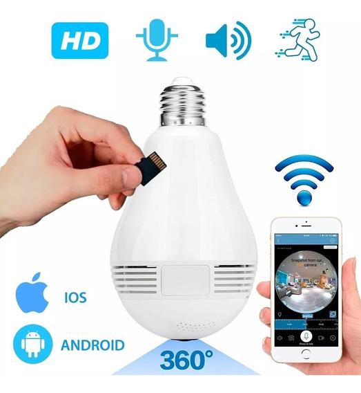 Camara Espia Wi Fi Vision 360 Lampara Led Garantia