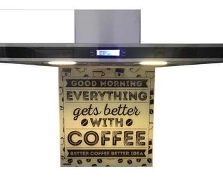 Campana Cocina Touch 60cm Led Acero + Vidrio Decorativo