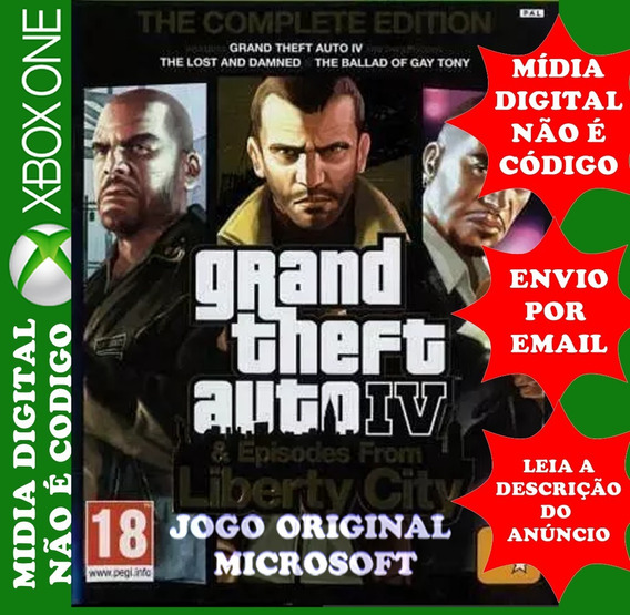 Gta 4 Xbox One Midia Digital