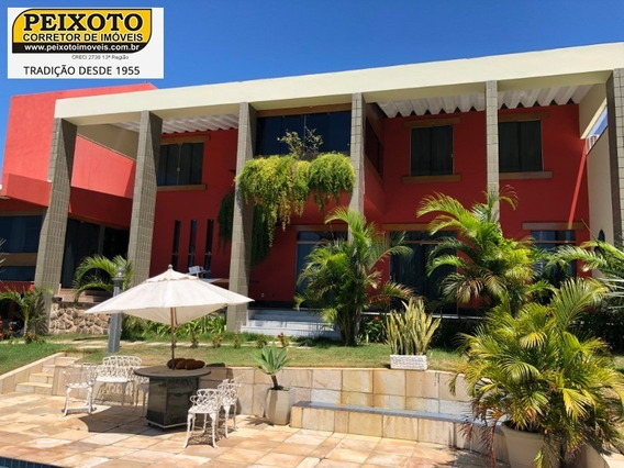 Linda Casa Com 5 Quartos Sendo 3 Suítes, 5 Salas, 4 Vagas, Lazer Com Piscina, Jardim, Em Nova Guarapari - Ca00162 - 33585936