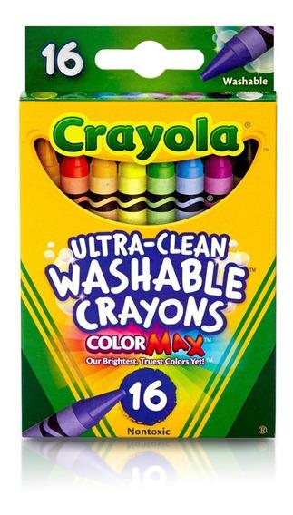 Crayones Crayola 16 Unidades Ultra Lavables