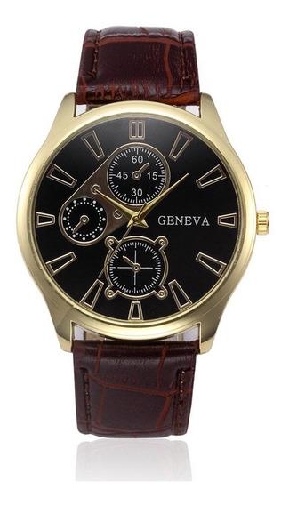 Relógio Luxo Masculino Social Pulseira Importado