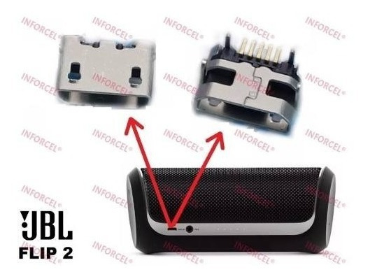 Conector Carga Micro Usb Caixa Som Jbl Flip 2 Original - G7