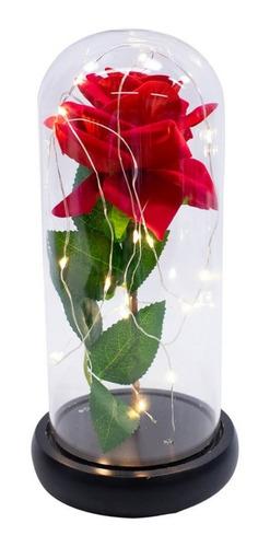 Luminária Disney Rosa Encantada A Bela E A Fera 24x12cm