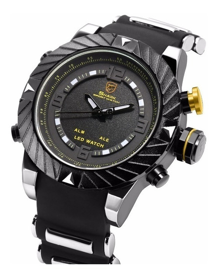 Relogio Sport Shark Goblin Sh168 Dual Time Led (invicta,tomm