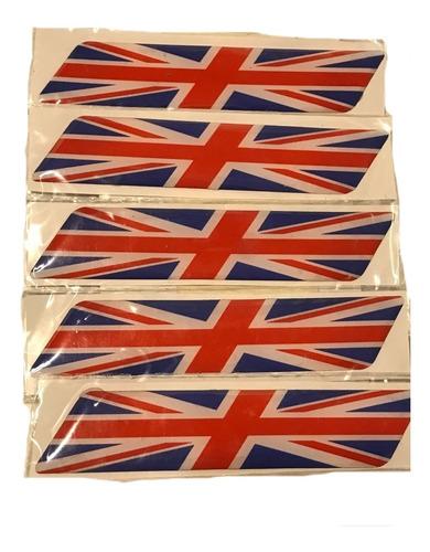 Imagen 1 de 4 de Sticker Adhesivo Resina Bandera Inglesa Laterales Auto.x1 A