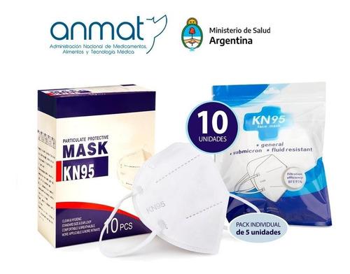 Pack X 10 Barbijos Mascara Kn Antibacterial 95%