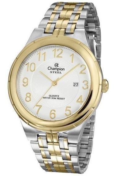Relógio Champion Masculino Ref: Ca21624b Social Bicolor