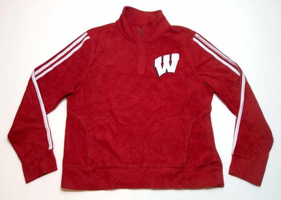 Buzo Polar adidas Wisconsin Mujer Rojo Usa Americano Talle L