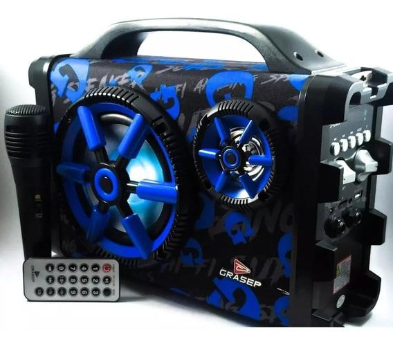 Caixa De Som Amplificada 30w Rms Bluetooth Fm Usb Microfone