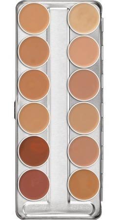 Maquillaje Base Supracolor Paleta 12 Colores Kryolan