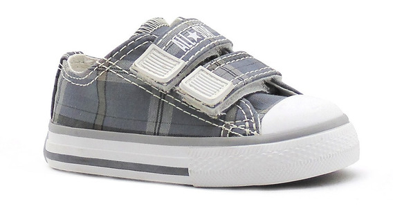 Tênis All Star Specialty Plaid V2 Cinza Infantil L33
