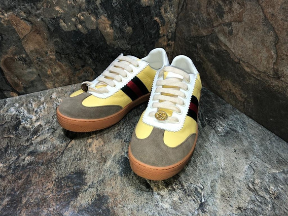 Tenis Sneakers Gucci Screaners Yellow Envio Sin Costo
