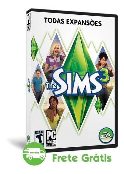 The Sims 3 Todas Expansões Coleções De Objetos Pacote Completo Português Pc Mídia Física (dvd)