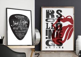 Promo Kit 2 Pôsteres - Jimi Hendrix + Rolling Stones - A2
