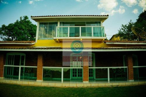 Imagem 1 de 30 de Linda Chácara Para Locação Comercial Com 7 Dormitórios, Por R$ 12.500/mês - Terra Preta - Mairiporã/sp - Ch0004