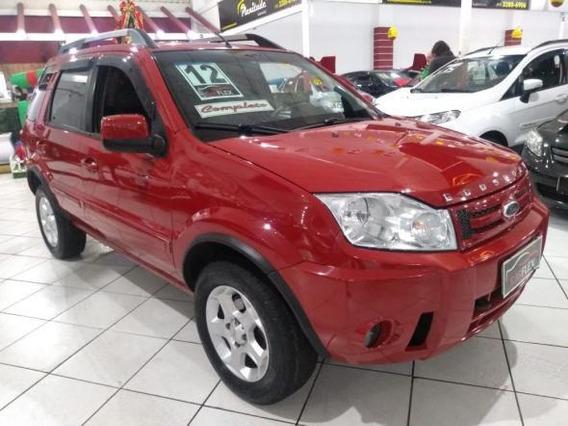 Ford Ecosport Xlt 1.6 8v Flex 5p 2012 Vermelha Completa