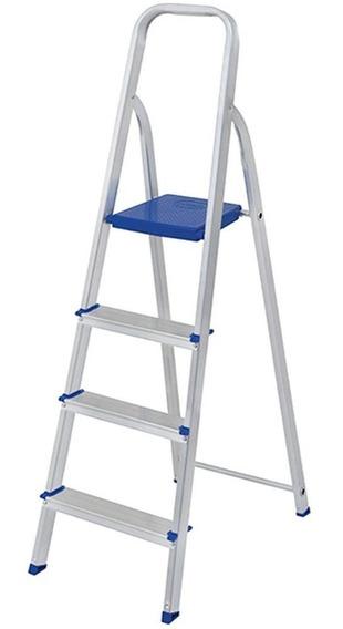 Escada Alumínio Mor 4 Degraus Mor