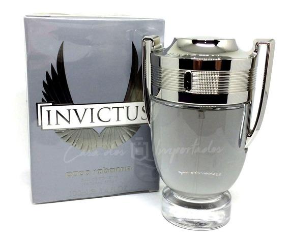 Invictus Paco Rabanne 100ml   Original + Amostra De Brinde