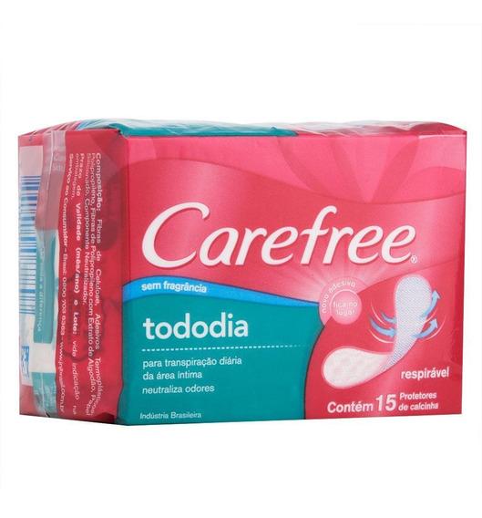 Protetor Diário Carefree Todo Dia Sem Perfume C/ 15 Unidades