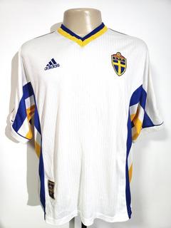 Camisa Oficial Futebol Seleção Suécia 1998 Away adidas G